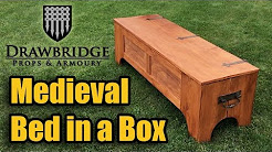 Medieval Bed in Box - Coverts from a Medieval Chest to Bed in 2 Minutes