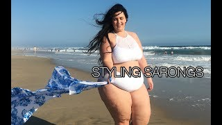 HOW TO WEAR: STYLING SASSY SARONGS FOR PLUS SIZE SWIMSUITS AND BIKINIS | COVER UPS