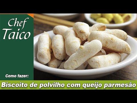 Biscoito de polvilho com queijo parmesão - Chef Taico