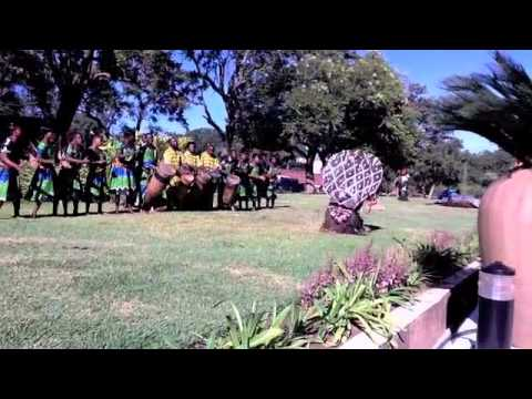 IIPT welcome performance outside the Interconti Hotel Lusaka, Zambia