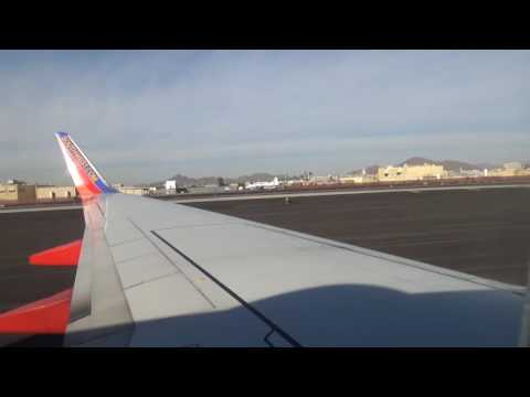 Southwest Airlines landing at Phoenix Sky Harbor International Airport