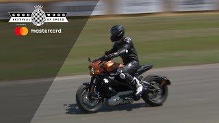 Electric Harley Davidson makes debut at Goodwood