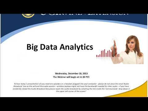 Predictive Analytics Special Topic Webinar: Big Data Analytics (12/18/2013)