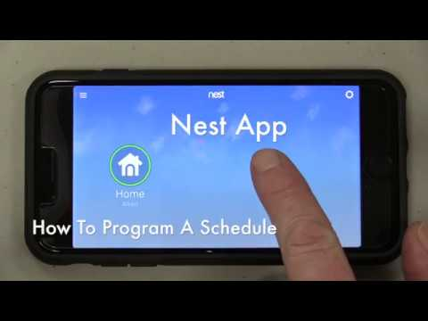 Nest Thermostat - How to Set A Schedule on the App