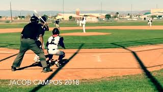 Jacob Campos 2018 Baseball highlights!