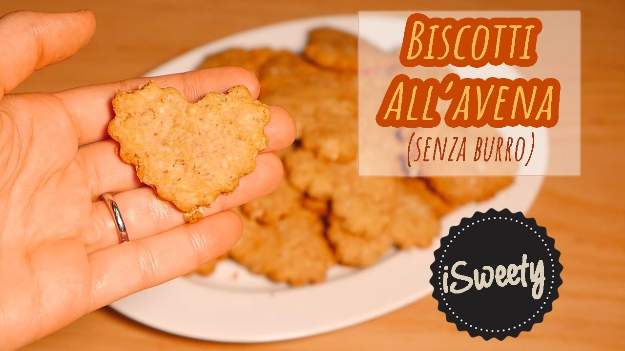 biscotti con fiocchi di avena senza burro