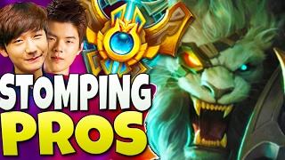 KOREAN CHALLENGER RENGAR SMASHING PROS - ft Peanut, Huni, Deft - League of Legends