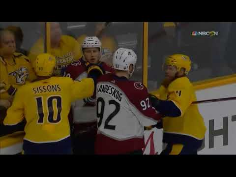Pekka Rinne ROBS Nathan MacKinnon (Predators vs. Avalanche NHL Playoffs 2018)