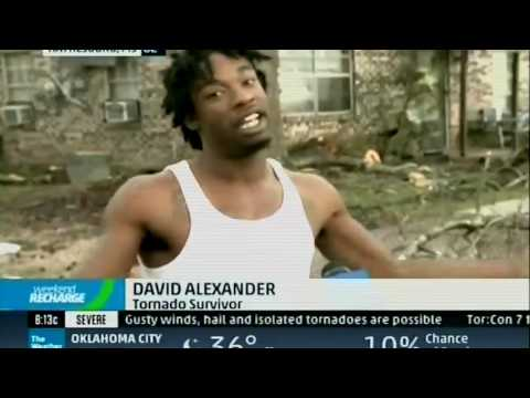 Tornado Survivor Gives Animated Interview on The Weather Channel