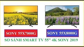So sánh Tivi Sony KD-55X7000G và KD-55X8000G 55 inch 4K 2019
