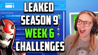 *LEAKED* Fortnite Week 6 Season 9 Challenges (FULL GUIDE To Completion)