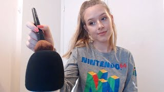 ASMR Mic Brushing & Breathy Whispers thumbnail