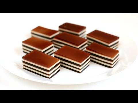 COFFEE CREAM LAYERED JELLO recipe -  Cách làm THẠCH RAU CÂU CÀ PHÊ KEM DỪA