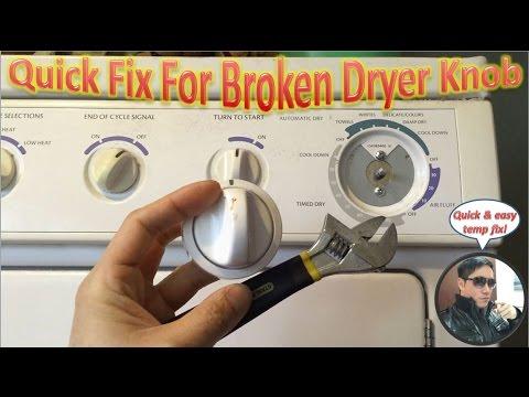 Quick Fix For Broken Dryer Knob