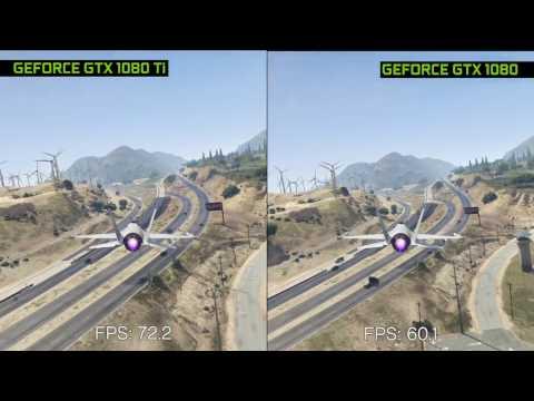 Geforce GTX 1080 Ti vs GTX 1080 Founders Edition Comparison on GTAV Benchmark Max Settings