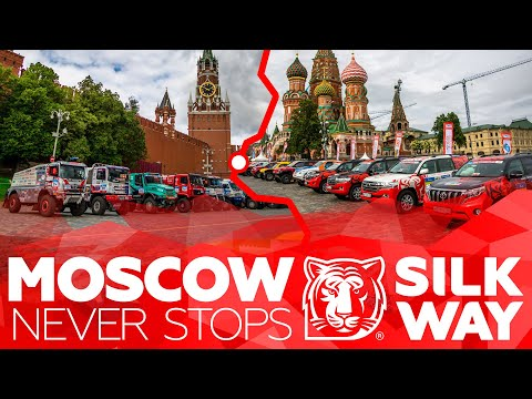 Moscow meets SWR pilots! White tiger on the Red Square | Silk Way Rally 🌏