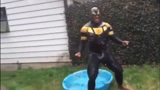 this moment he knew he f ked up phoenix jones takes the ice bucket challenge while getting tased
