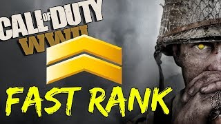 FAST RANKING | CALL OF DUTY WW2 MULTIPLAYER (PC GAMEPLAY)