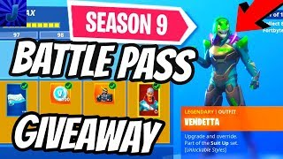 SEASON 9 BATTLE PASS *GIVEAWAY* (FORTNITE BATTLE ROYALE) VBUCK GIVEAWAY W/ Jammy