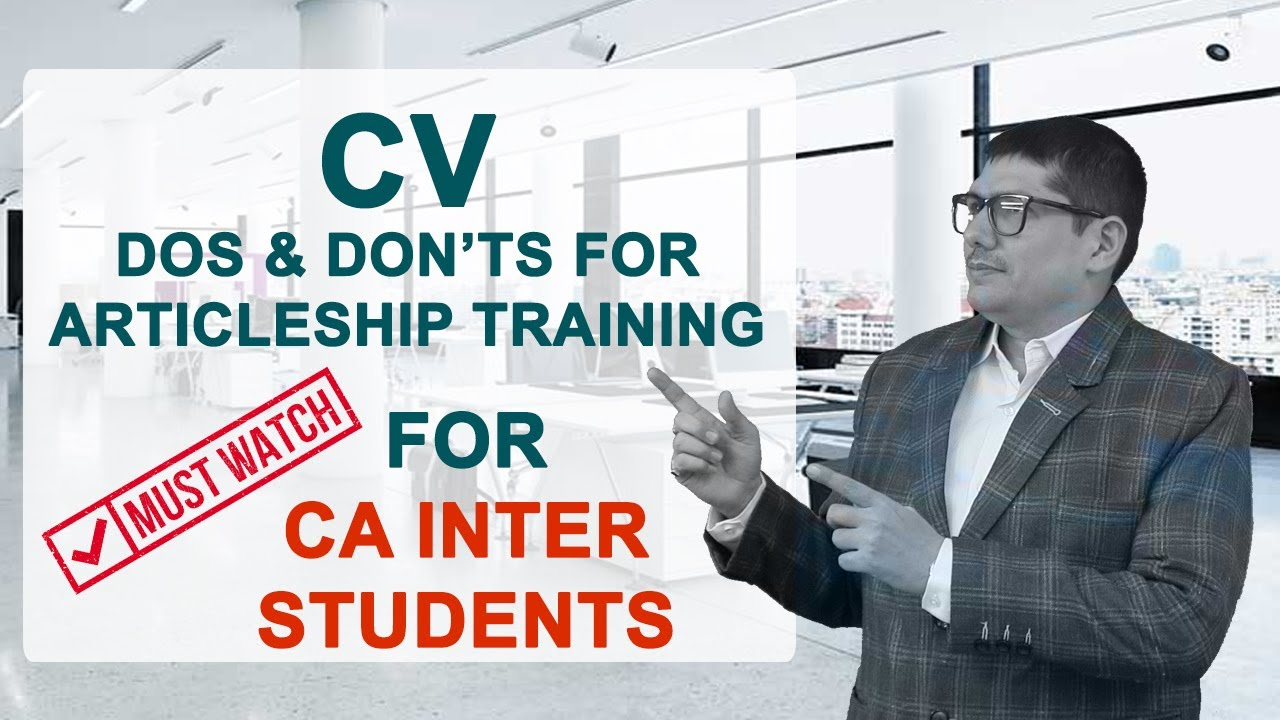 Cv Format For Articleship Training See Description For Cv Format