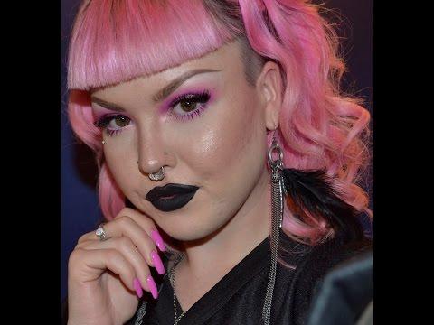 Soft Pink Smokey Eye with Glitter in HD