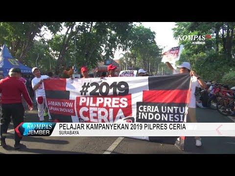 Pelajar Kampanyekan 2019 Pilpres Ceria