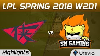 RW vs SNG Highlights Game 1 LPL Spring 2018 W2D1 Rouge Warriors vs Suning Gaming by Onivia