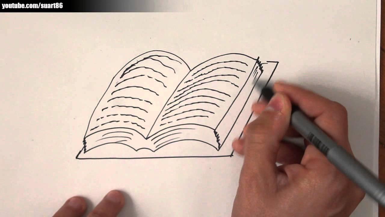 Como dibujar un libro  YouTube