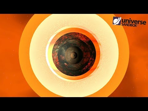 Making Chariklo A Star, Universe Sandbox ²