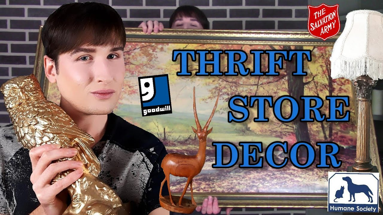 Thrift Store Home Decor Haul | Paintings Statues and More ...