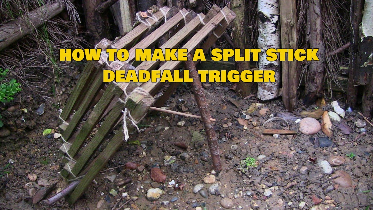 How To Make A Split Stick Deadfall Trap Trigger