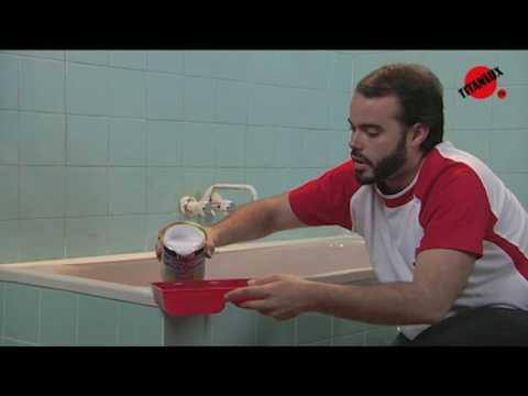 C mo pintar los azulejos del ba o youtube - Pintura para azulejos de bano ...