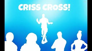 Fortnite NEW Criss Cross Emote On My Top 5 Favorite SKINS!!!