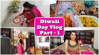 Special Diwali Vlog 2018  - Part 1 | कैसे की लक्ष्मी पूजन की तैयारी | Indian Mom Studio