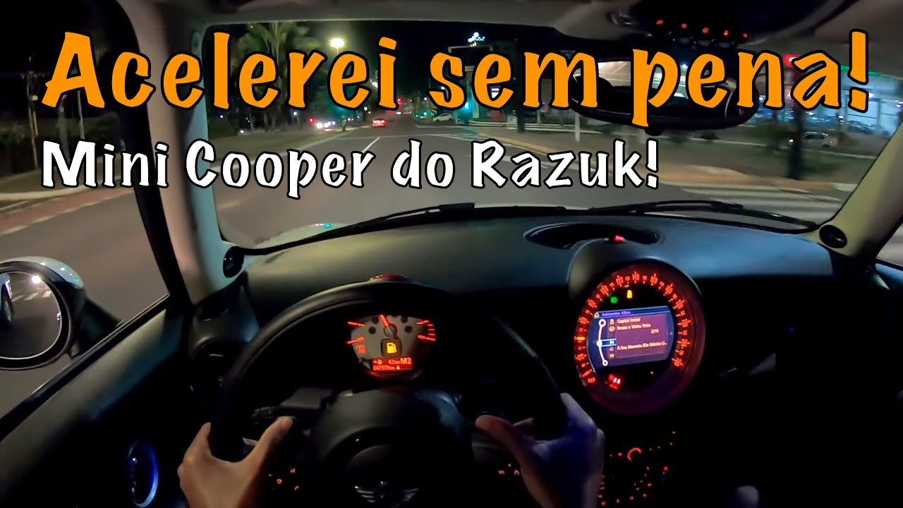 Acelerei o Mini cooper 1.6 Turbo do youtuber polêmico! - (Anda muito!)