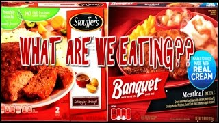 Stouffer's Meatloaf Dinner VS. Banquet's Meatloaf Dinner - WHAT ARE WE EATING?? - The Wolfe Pit
