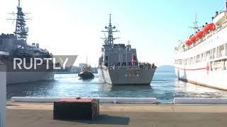 Russia: Japanese Navy vessels dock in Vladivostok on visit