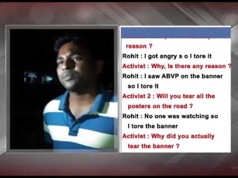 Video Leaked: HCU Student Rohith Vemula Clash With ABVP Students