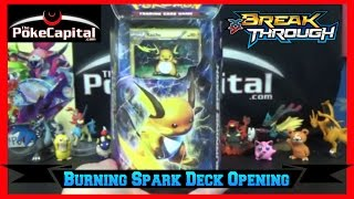 Pokemon Cards - XY Breakthrough Burning Spark Raichu Theme Deck Opening