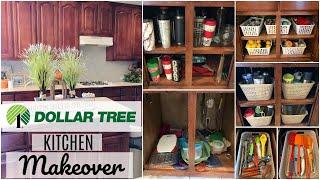 DOLLAR TREE ORGANIZATION | MASSIVE KITCHEN DECLUTTER (BEFORE & AFTER)