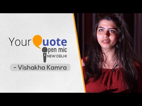 'Because You Exist' by Vishakha Kamra | English Poetry | YQ - New Delhi (Open Mic 1)