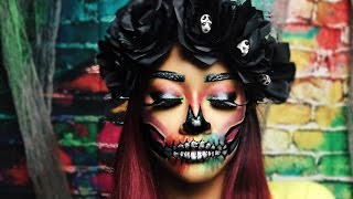 Colorful Halloween Skull Makeup | Bri Hall