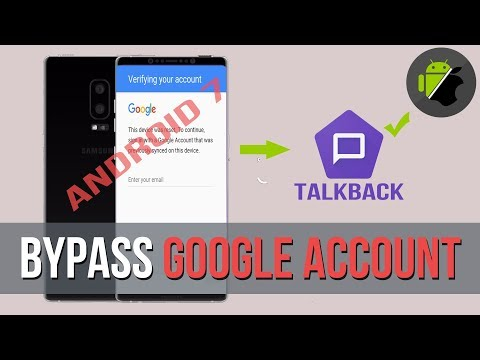 Bypass FRP Google Account All Samsung Devices (Android 7) By TalkBack Method