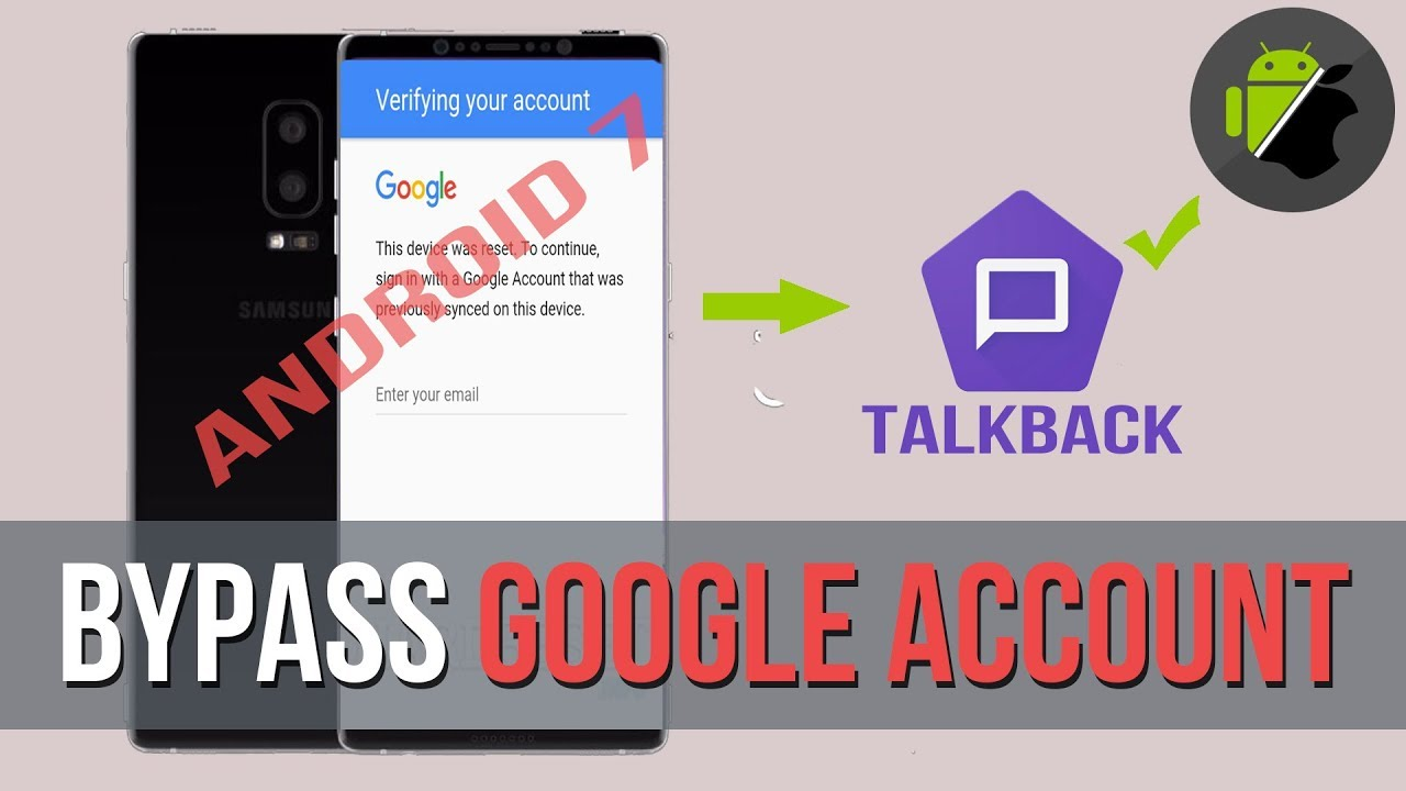 Bypass Frp Google Account All Samsung Devices Android 7