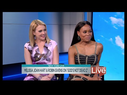 "Melissa Joan Hart & Robin Givens on ""God's Not Dead 2"""