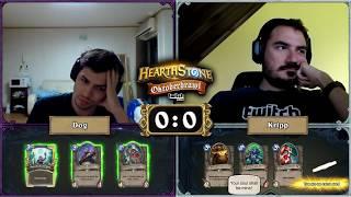 [Hearthstone]Kripp vs Dog - Hearthstone Oktoberbrawl