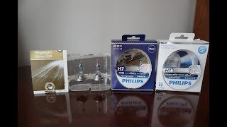 GE Megalight Ultra +130 vs Philips X tremeVision RacingVision WhiteVision