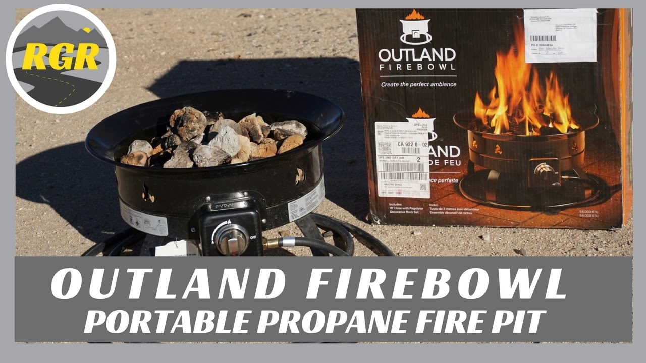 Marvelous Outland Firebowl | Product Review | Portable Propane Fire Pit