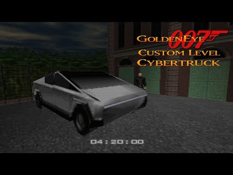 GoldenEye 007 N64 - Riding around the city with my new Cybertruck - Real N64 capture