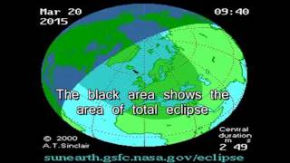 Path of Next Total Solar Eclipse UK Scotland Faroe 20 March 2015